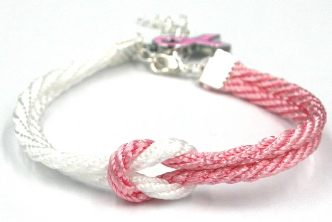 10  x Unity bracelet for breast cancer awareness  - 3mm cord £0.79 each